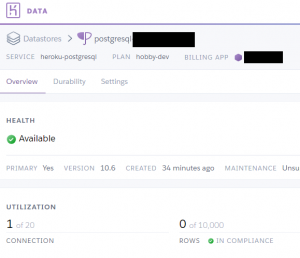 heroku postgre connection success